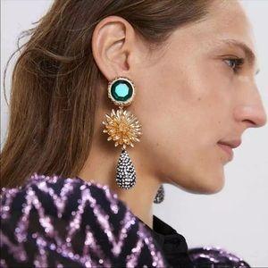Zara Style Dimond Flower Earrings